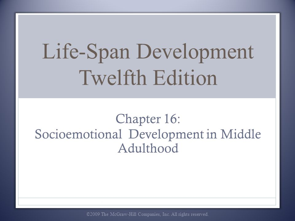 Life-Span Development Twelfth Edition