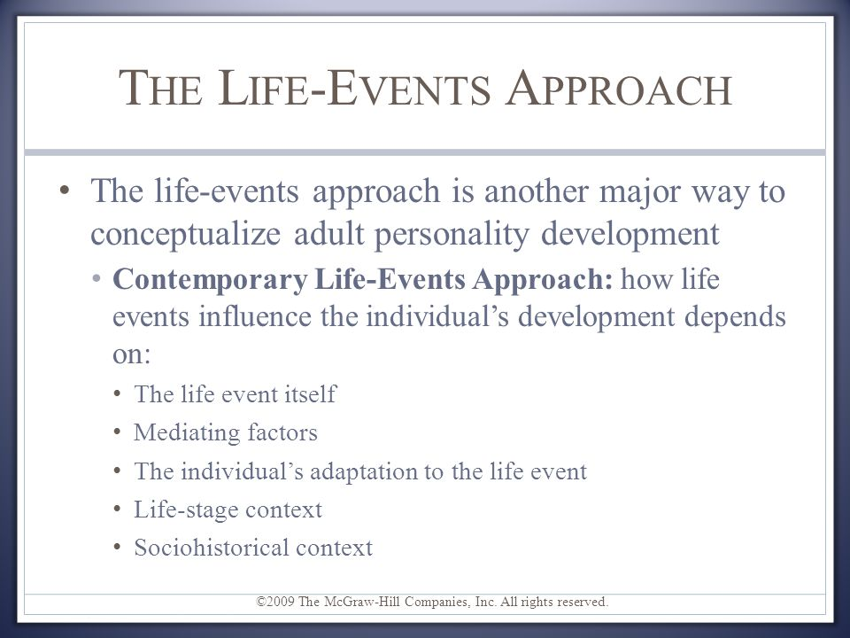 The Life-Events Approach