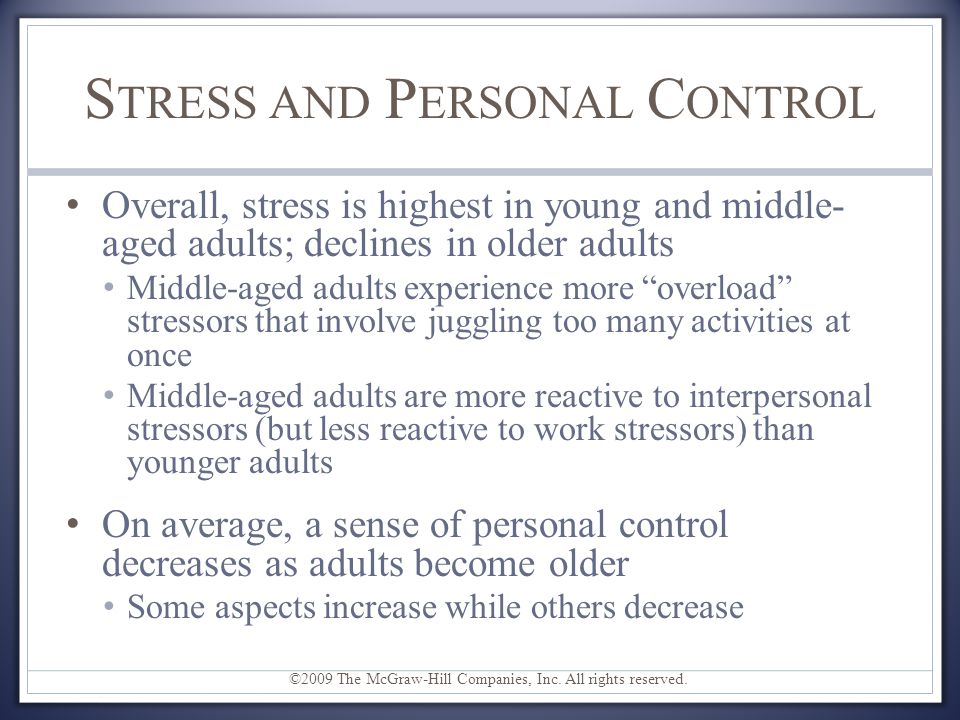 Stress and Personal Control