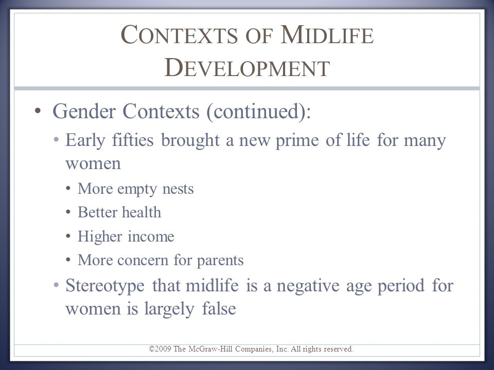 Contexts of Midlife Development