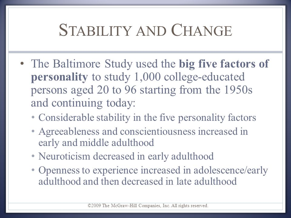 life span development and personality Nature over nurture: temperament, personality, and starting place for personality development (level 3 includes life narratives that give unity.
