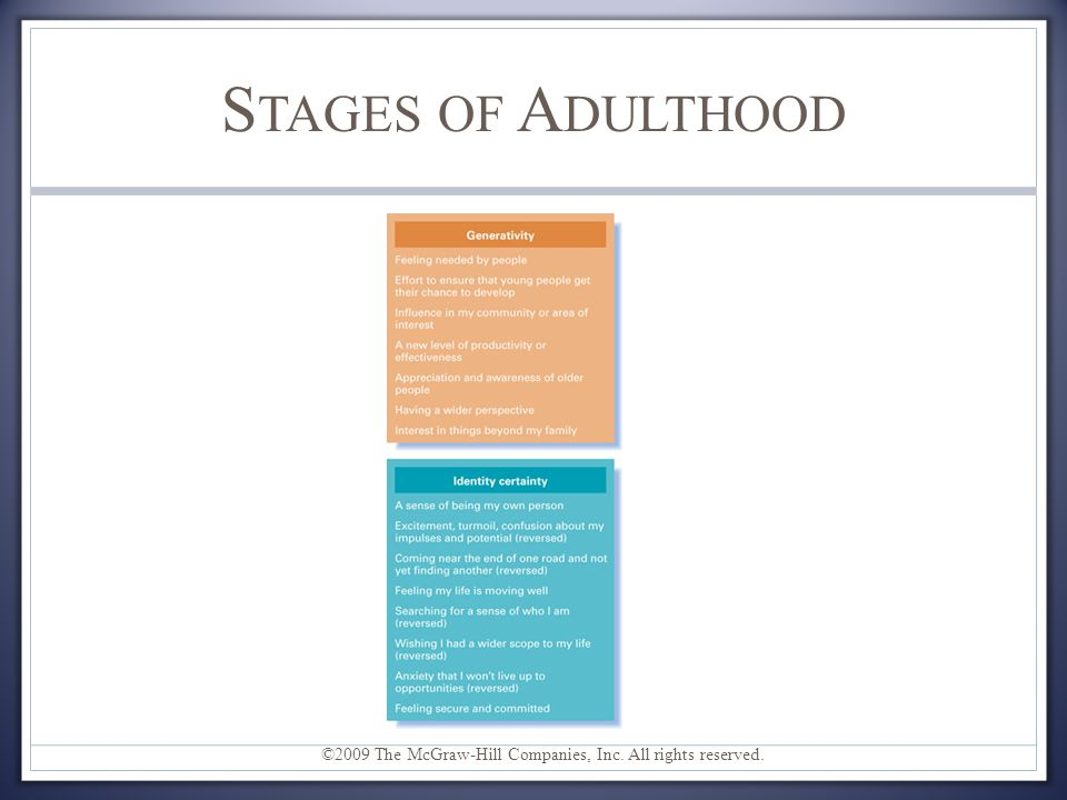 stages in adult development