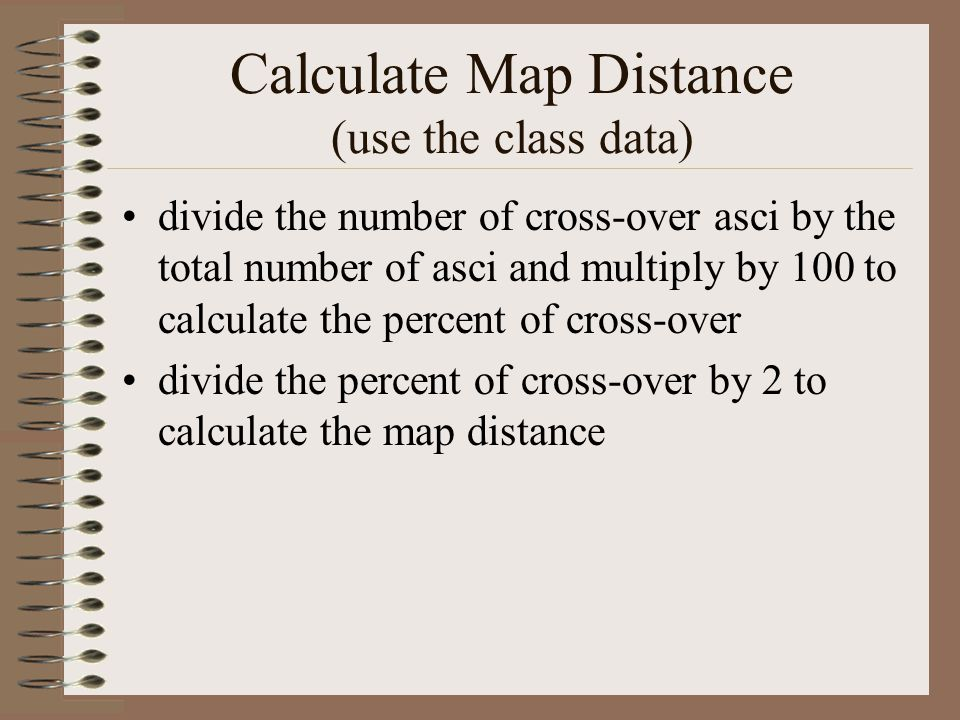 Calculate Map Distance (use the class data)