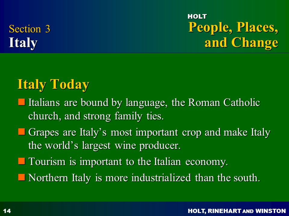 Italy Today Section 3 Italy