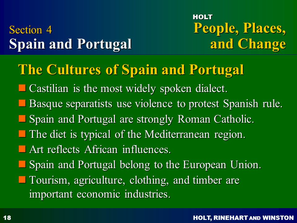 The Cultures of Spain and Portugal