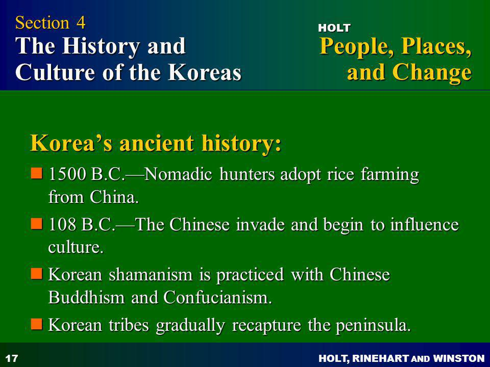 Korea's ancient history: