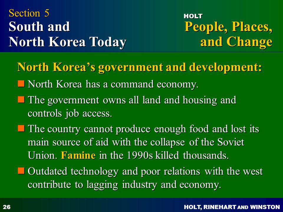 North Korea's government and development: