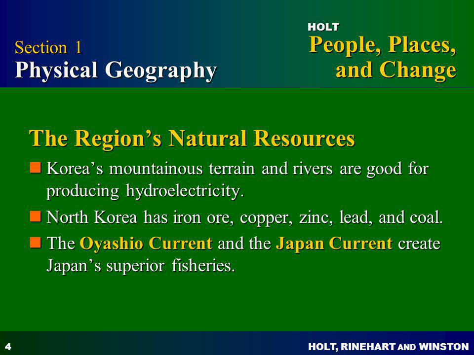 The Region's Natural Resources
