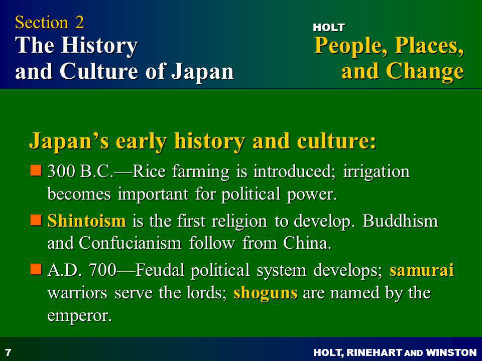 Japan's early history and culture: