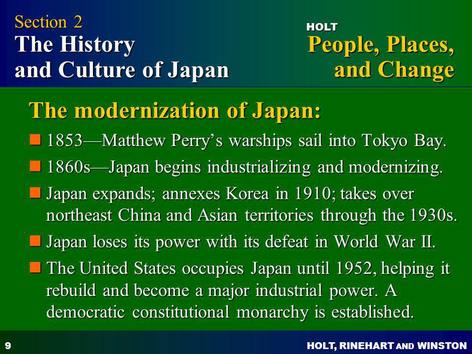 The modernization of Japan: