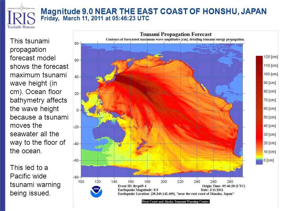 This led to a Pacific wide tsunami warning being issued.