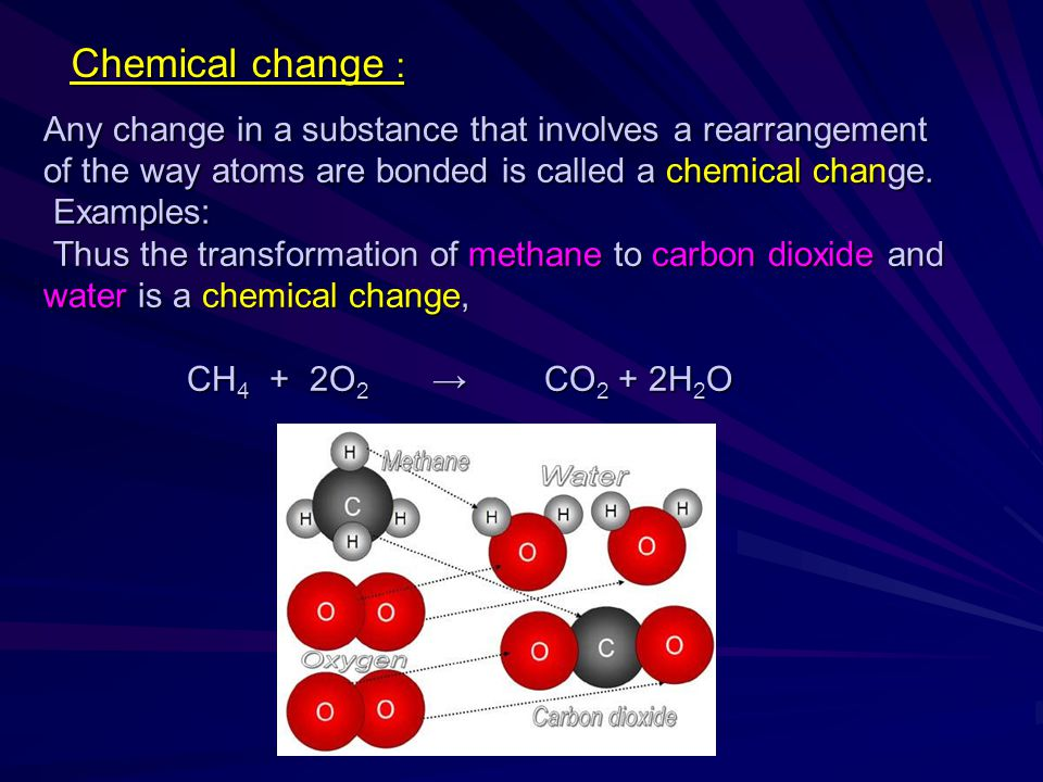 Chemical change :