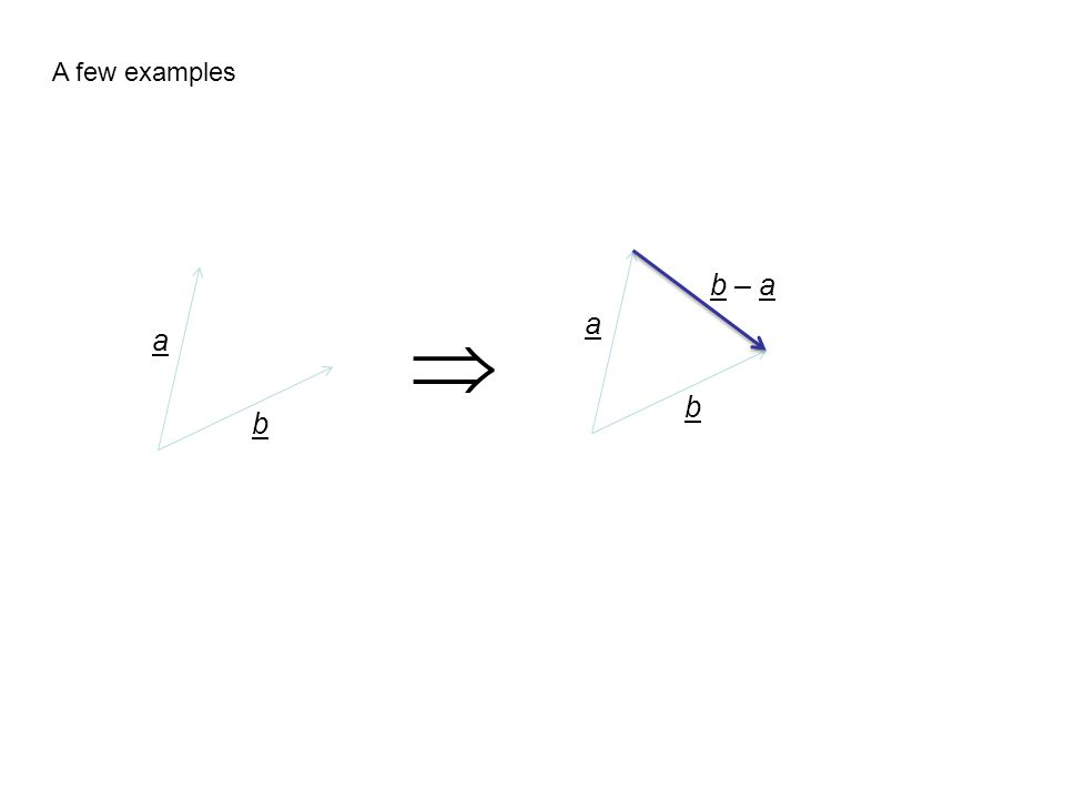 A few examples b – a  a a b b