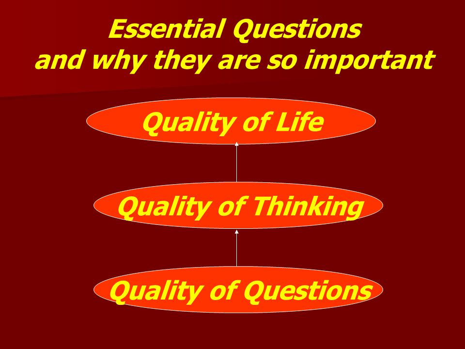 Essential Questions and why they are so important