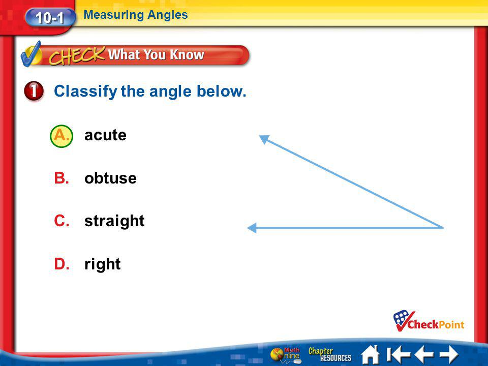 Classify the angle below.