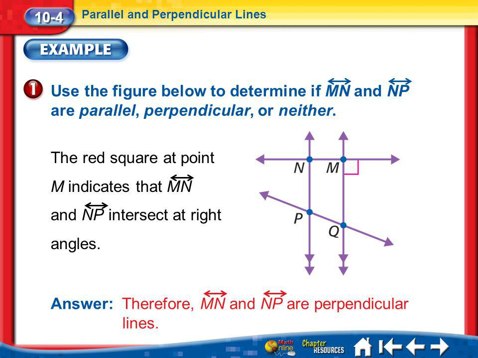 Answer: Therefore, MN and NP are perpendicular lines.