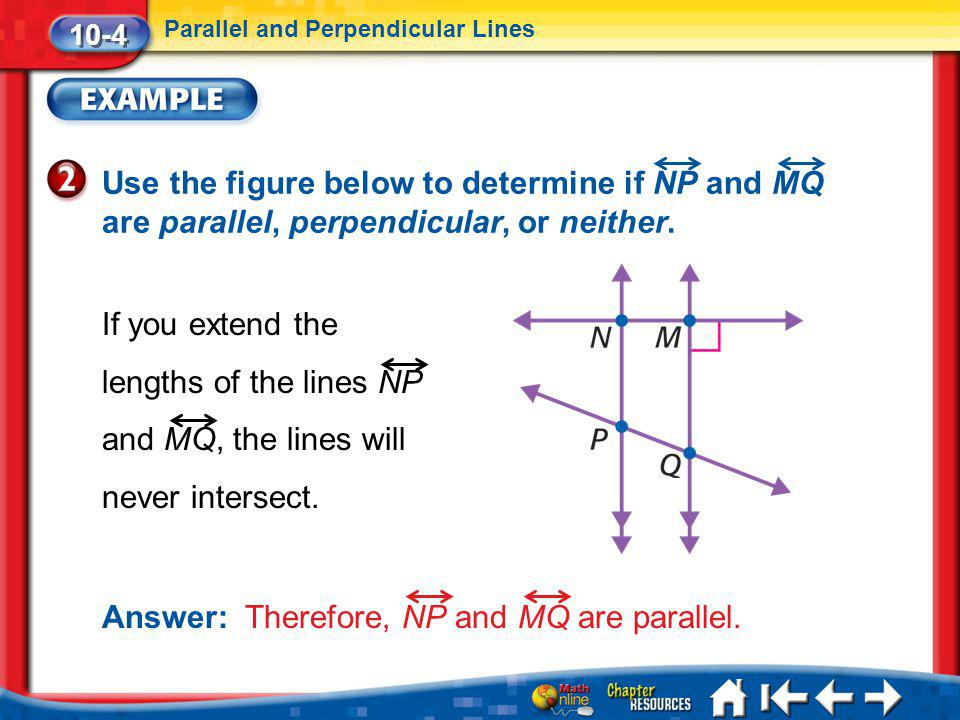 Answer: Therefore, NP and MQ are parallel.