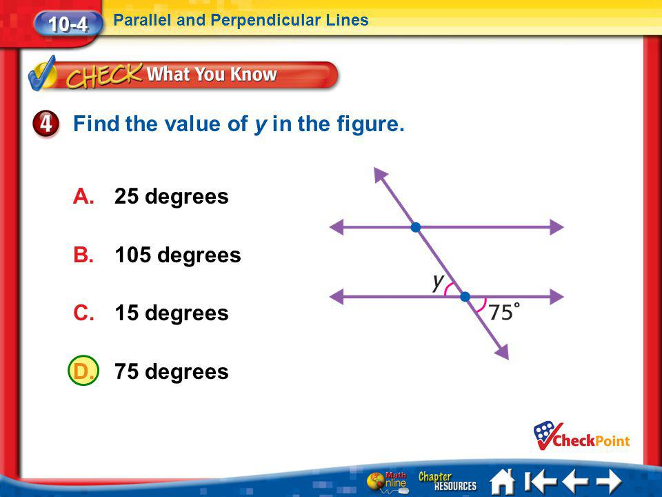 Find the value of y in the figure.