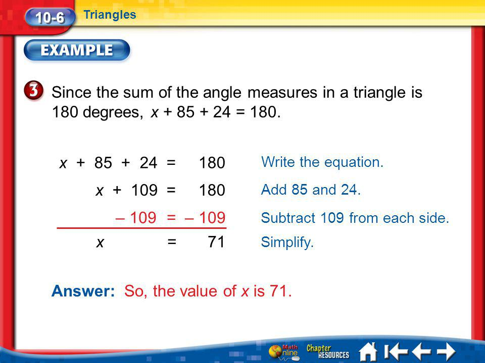 Answer: So, the value of x is 71.