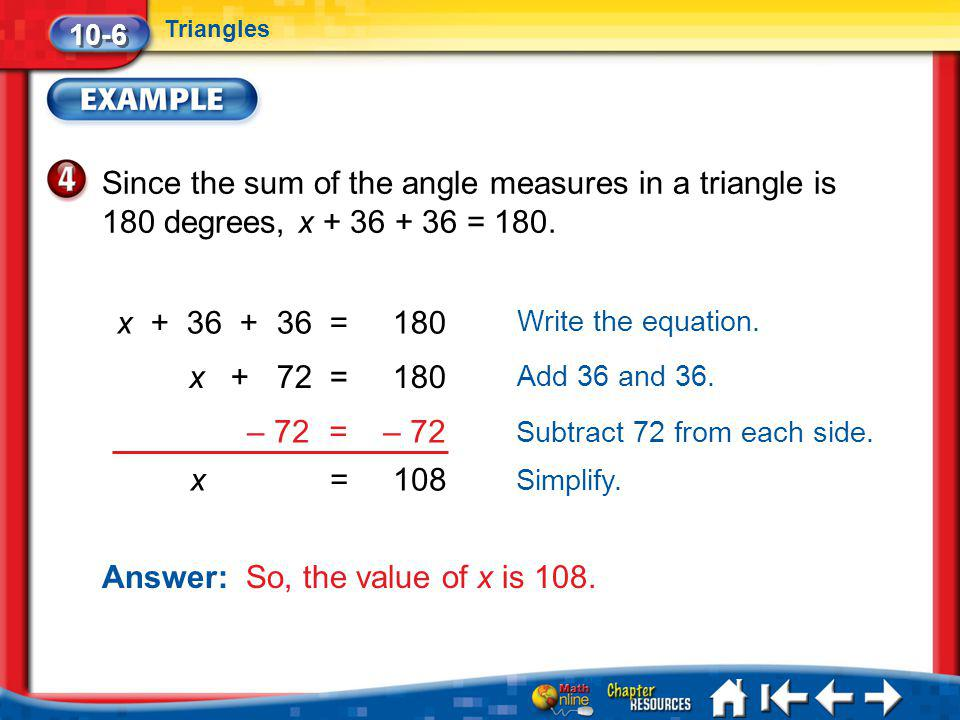 Answer: So, the value of x is 108.