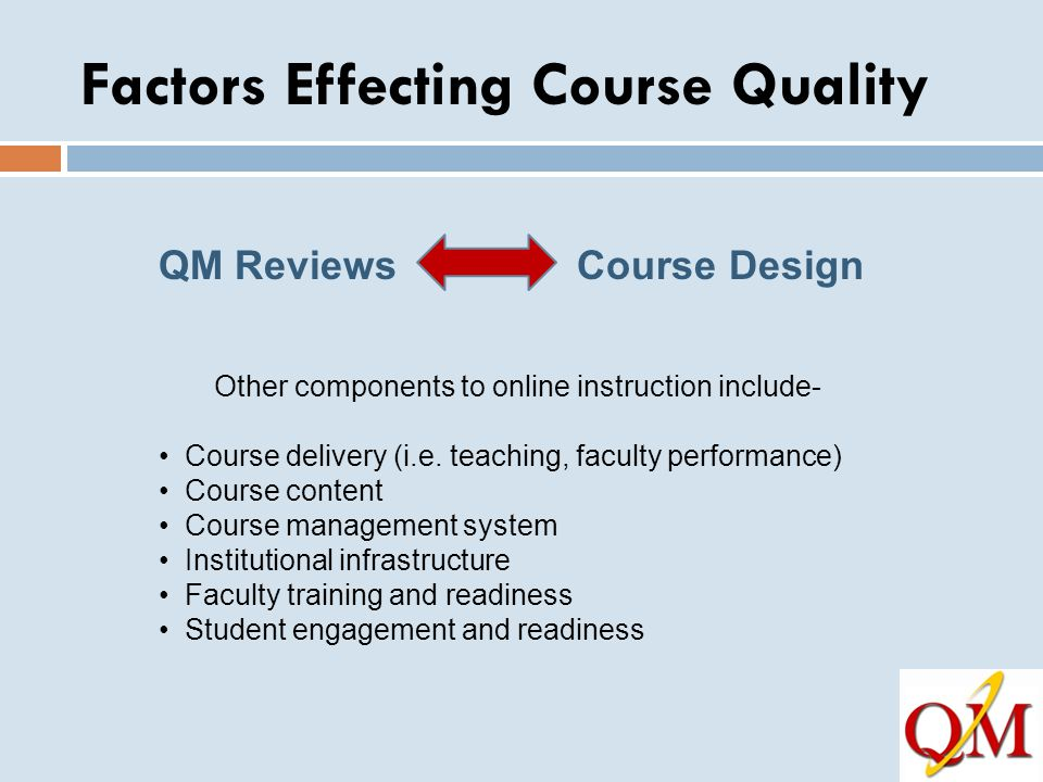 Factors Effecting Course Quality