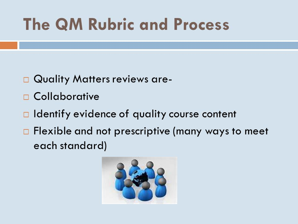 The QM Rubric and Process