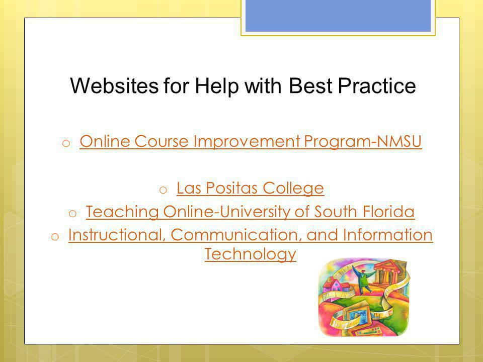 Websites for Help with Best Practice