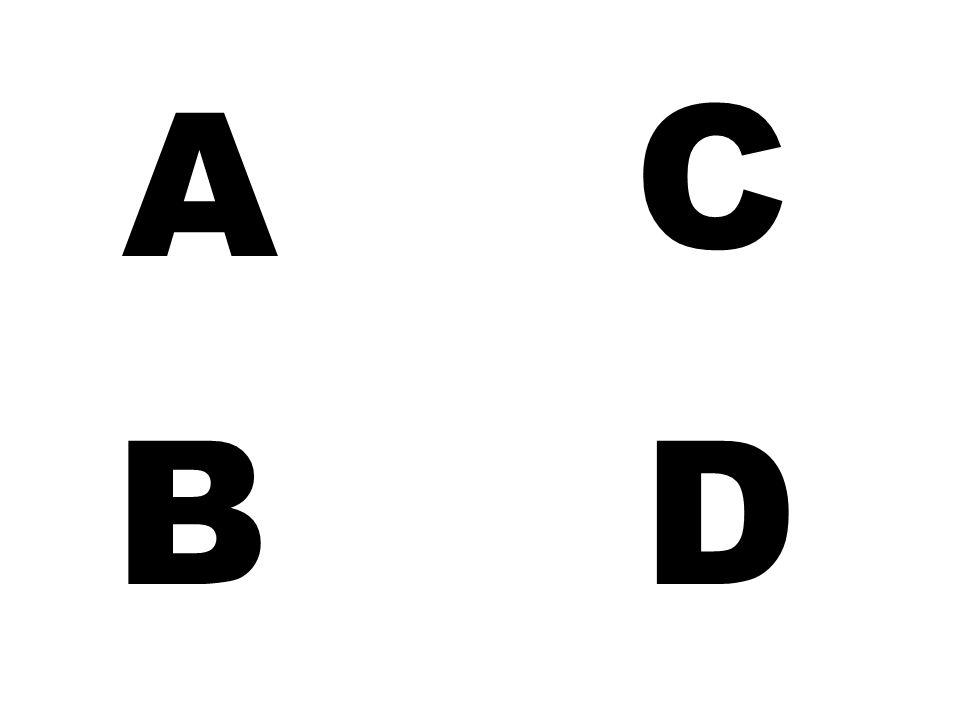 C A B D