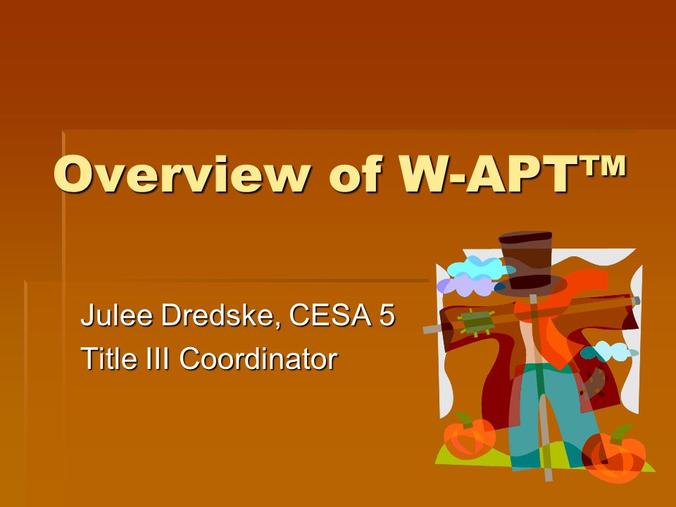 Julee Dredske, CESA 5 Title III Coordinator