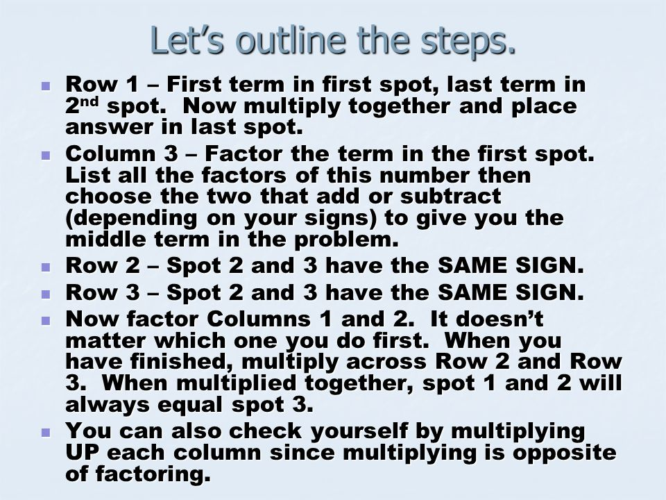 Let's outline the steps.