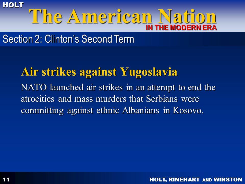 Air strikes against Yugoslavia