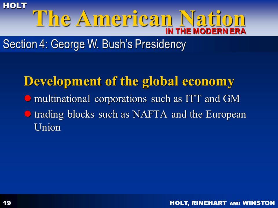 Development of the global economy