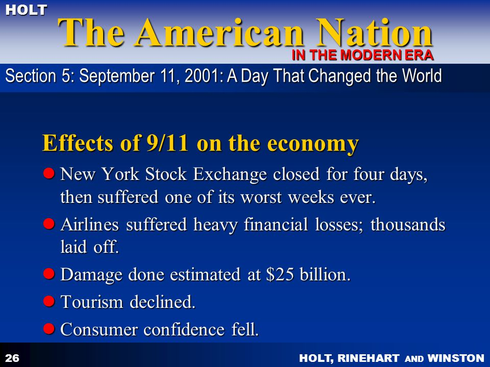 Effects of 9/11 on the economy