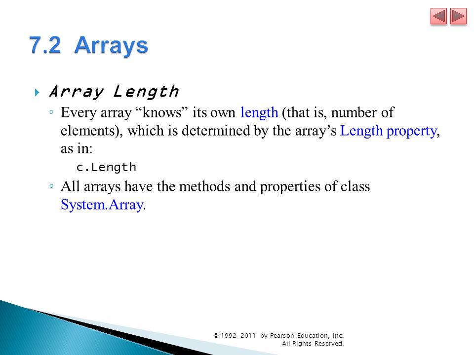 7.2 Arrays Array Length.
