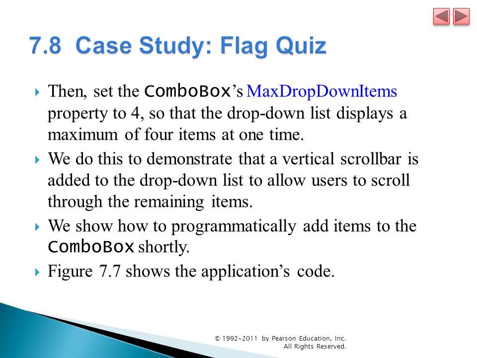 7.8 Case Study: Flag Quiz
