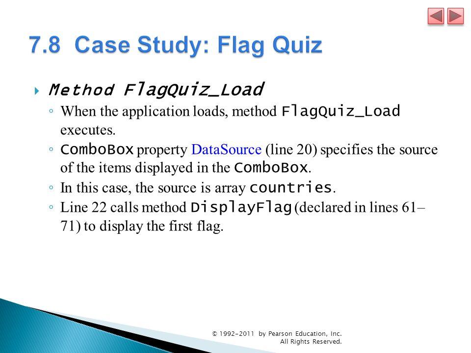 7.8 Case Study: Flag Quiz Method FlagQuiz_Load
