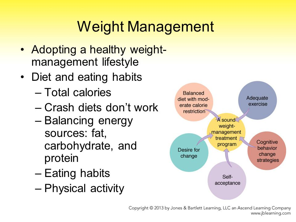 Weight Management Adopting a healthy weight-management lifestyle