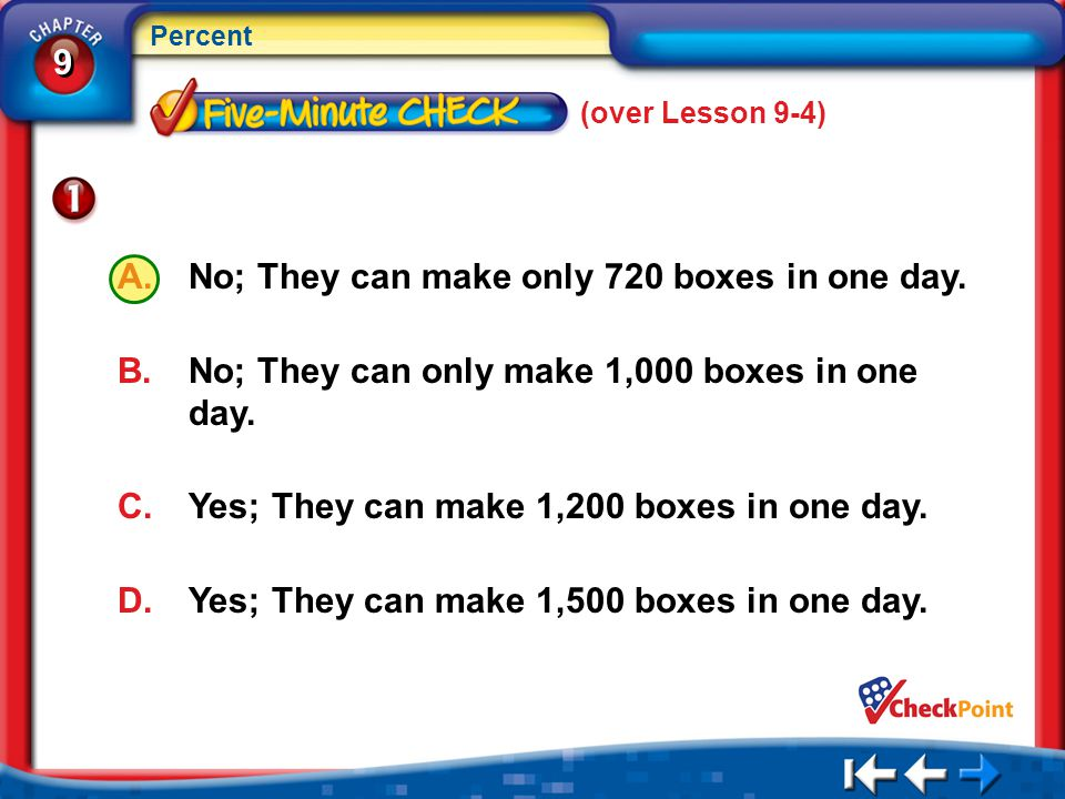 No; They can make only 720 boxes in one day.