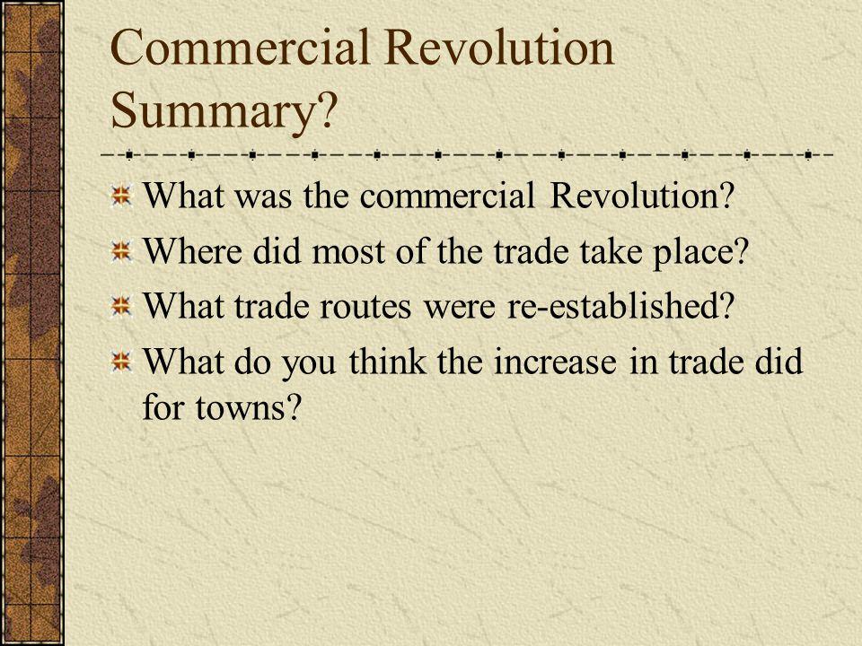 Commercial Revolution Summary