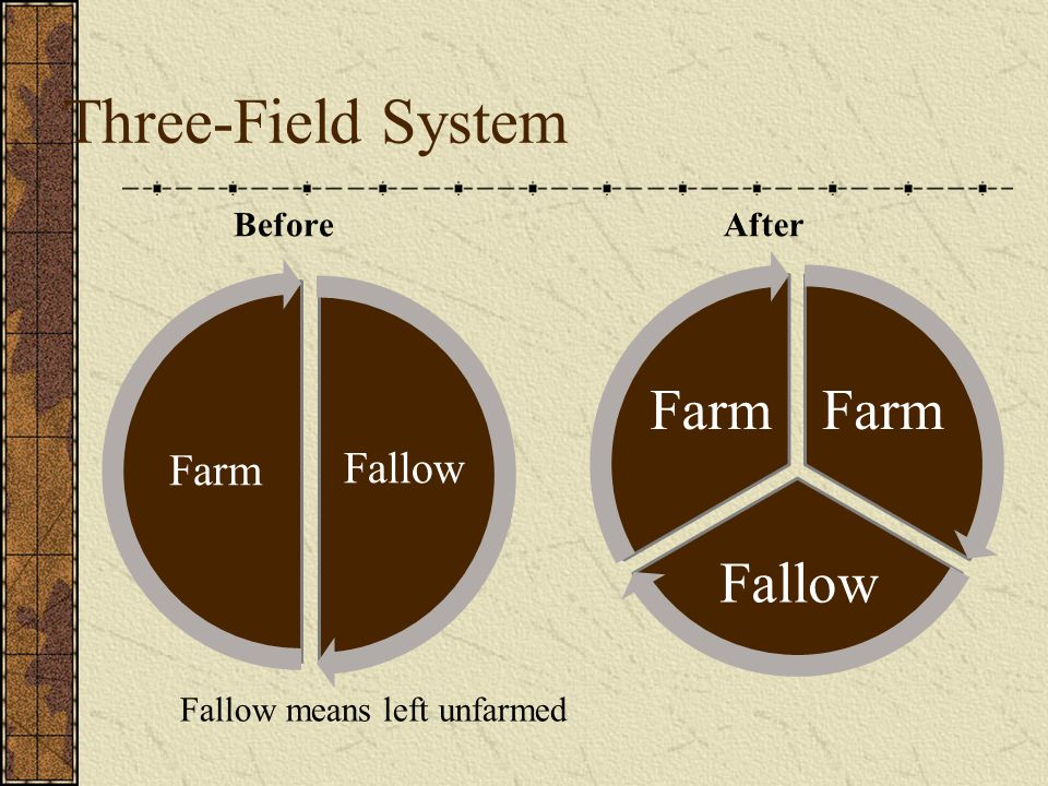 Three-Field System Farm Fallow Farm Fallow Before After