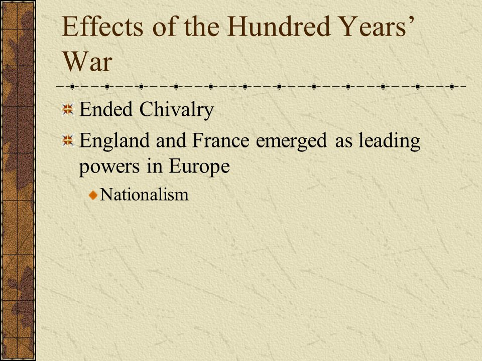 Effects of the Hundred Years' War