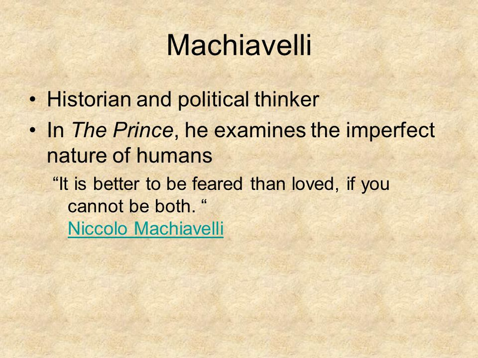 Machiavelli Historian and political thinker