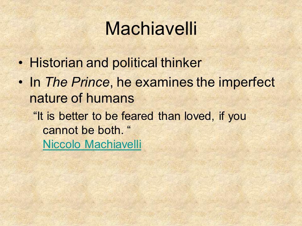 Machiavelli Historian and political thinker