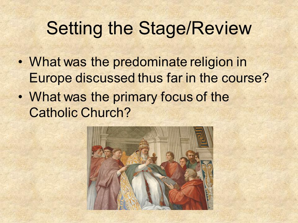 Setting the Stage/Review