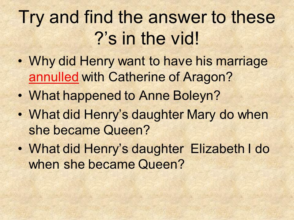 Try and find the answer to these 's in the vid!