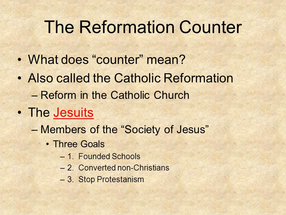 The Reformation Counter