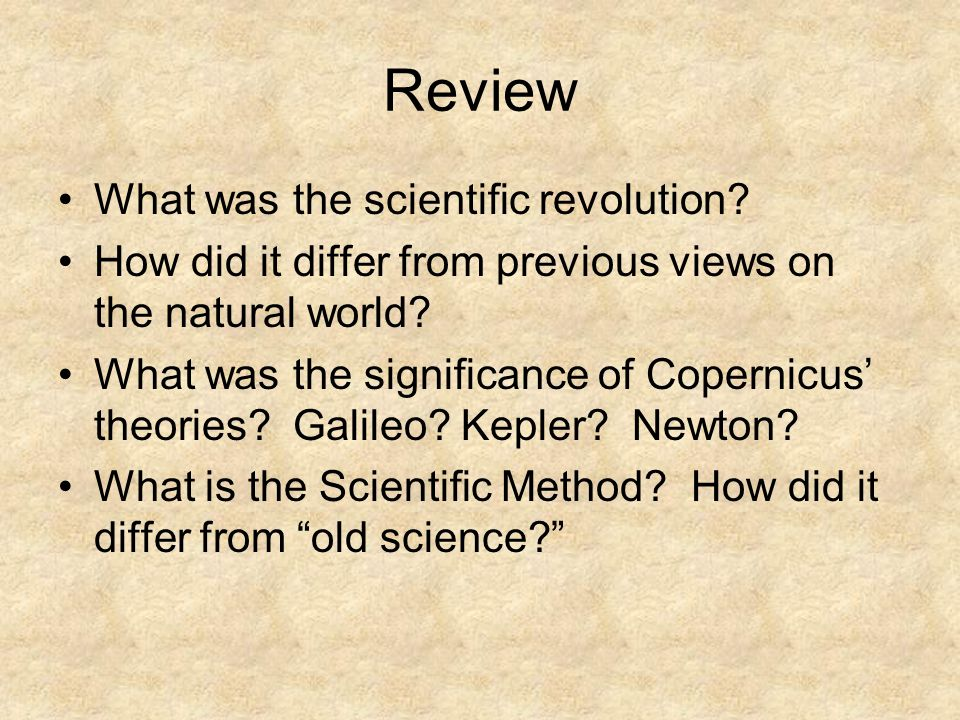 Review What was the scientific revolution