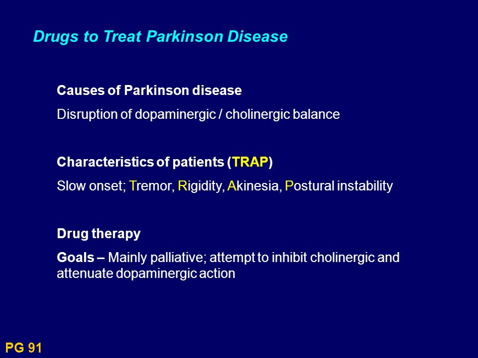Drugs to Treat Parkinson Disease