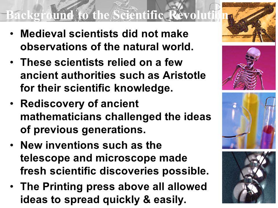 Background to the Scientific Revolution