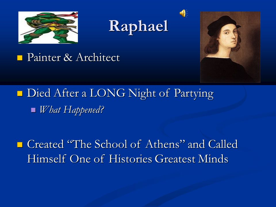 Raphael Painter & Architect Died After a LONG Night of Partying